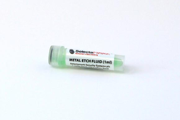 Tube of metal etching compound