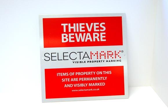 SelectaMARK Outdoor Warning Sign (30x30cm)