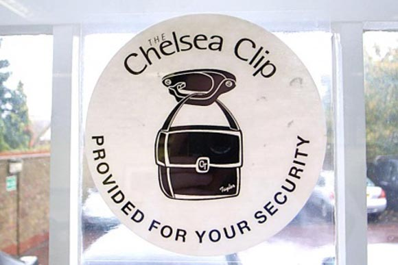 Chelsea Clip Window Stickers