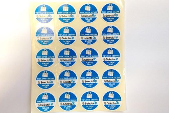 SelectaCLIP Menu Stickers (per 20)