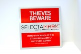 SelectaMARK Outdoor Warning Sign (30x30cm)