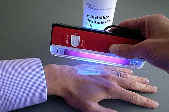 UV Re-admission ink